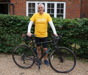 Mike's pedal power to support facial palsy service