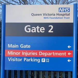 Signage improvements for hospital site